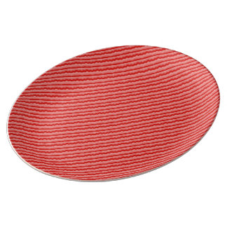 Red Waves Plate