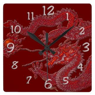 Red Wax Dragon Wallclocks