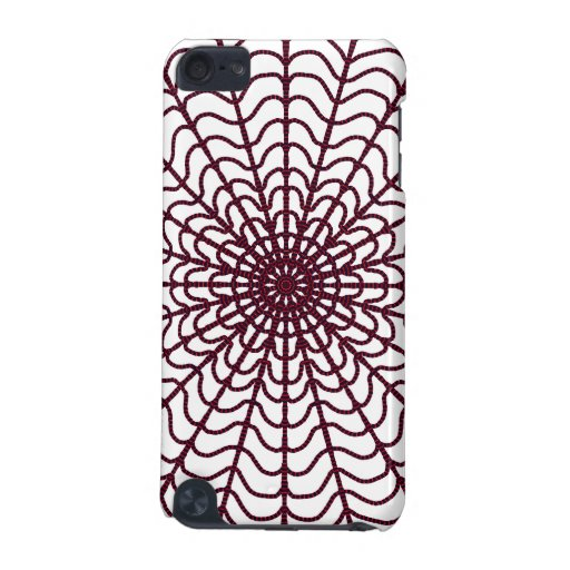 Red Web Speck Case For IPod Touch iPod Touch (5th Generation) Cover