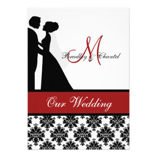 Red Wedding Couple Wedding Invitation