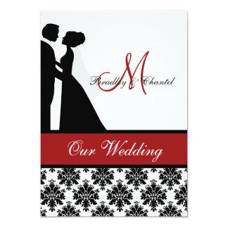 "Red Wedding Couple Wedding Invitation 5"" X 7"" Invitation Card"