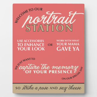 Red Wedding Photo Booth Sign Plaque