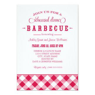 Red Wedding Rehearsal Dinner | Casual BBQ 13 Cm X 18 Cm Invitation Card