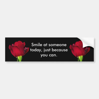 Red Wedding Rose Bumper Sticker