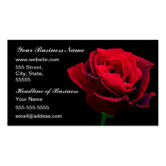 Red Wedding Rose Business Card