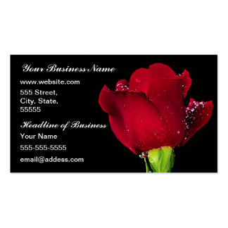 Red Wedding Rose Business Cards