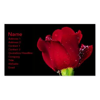 Red Wedding Rose Business Card Template