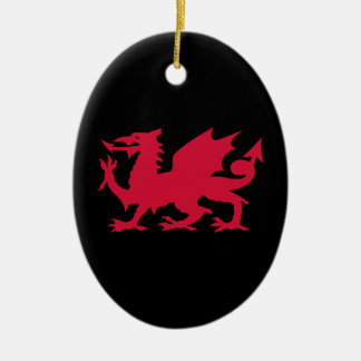 Red Welsh Dragon Christmas Ornament