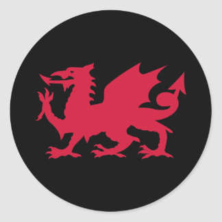 Red Welsh Dragon Classic Round Sticker