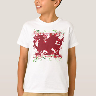 Red Welsh Dragon Kid's Light T-Shirt