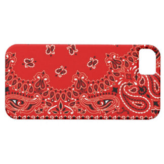 Red Western Bandana Scarf Fabric Wrap Case For The iPhone 5