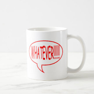 Red Whatever Speech Bubble Coffee Mug