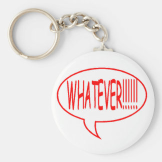 Red Whatever Speech Bubble Basic Round Button Key Ring
