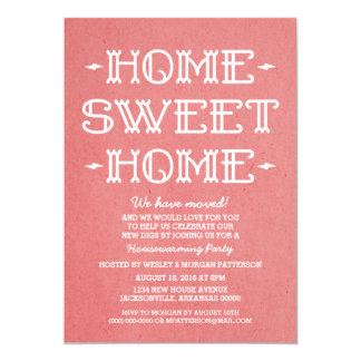 Red Whimsical Sweet Home Housewarming Party 13 Cm X 18 Cm Invitation Card