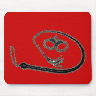 RED WHIP AND CUFFS MOUSE PADS