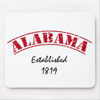 Red White Alabama Established Mouse Pad