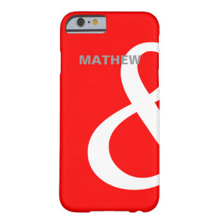 Red White Ampersand Lovers Names Matching Left Barely There iPhone 6 Case