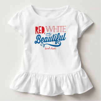 Red, White and Beautiful Patriotic Ruffle Shirt
