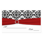 Red, White and Black Damask Placecards