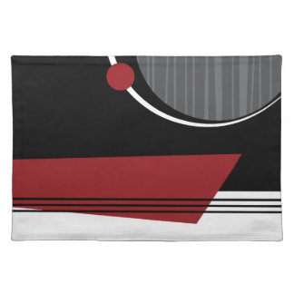 Red White and Black Geometric Placemat
