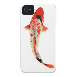 Red, White, and Black Koi Fish iPhone 4 Case-Mate Case