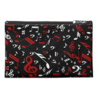 Red White and Black Musical Notes Travel Accessory Bag