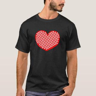 Red White and Black Polkadot Heart T-Shirt