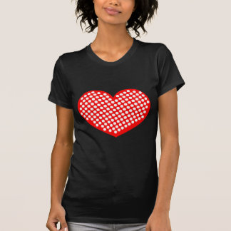 Red White and Black Polkadot Heart Shirt