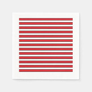 Red, White and Black Stripes Disposable Napkin