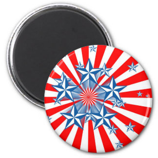 Red White and Blue 6 Cm Round Magnet