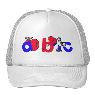 Red,White and Blue ABC Alphabet Logo Trucker Hat