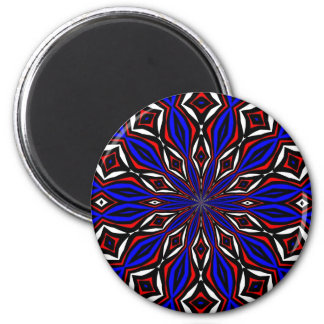 Red, White and Blue Abstract 6 Cm Round Magnet