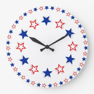 Red White and Blue America The Great Large Clock