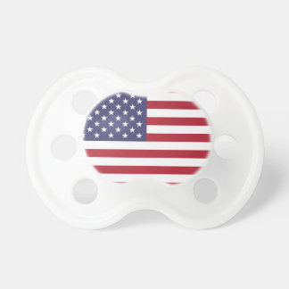 Red white and blue American flag Pacifiers
