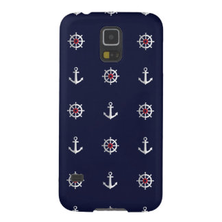 Red White And Blue Anchor Pattern Galaxy S5 Cases