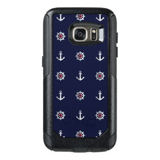 Red White And Blue Anchor Pattern OtterBox Samsung Galaxy S7 Case