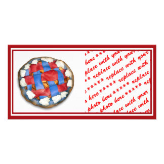 Red White And Blue Apple Pie Picture Card