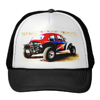 red white and blue baja bug in all categories cap
