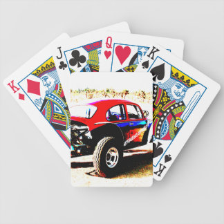 red white and blue baja bug in all categories playing cards