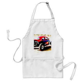 red white and blue baja bug in all categories standard apron