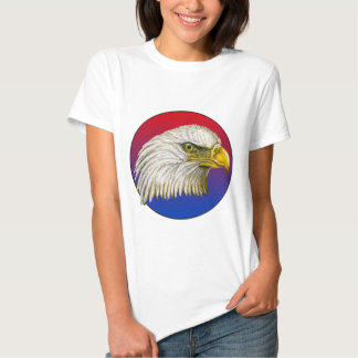 Red White and Blue Bald Eagle T Shirt