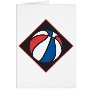 red white and blue basketball card