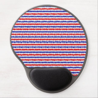 Red, White and Blue Blur Gel Mousepad
