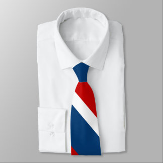 Red White and Blue Broad University Stripe Tie