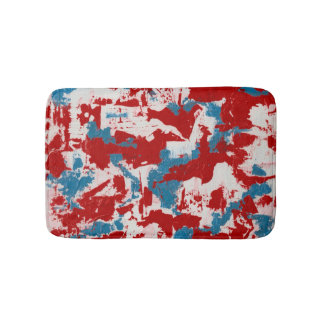 Red, White and Blue Brushstrokes Bath Mats