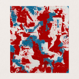 Red, White and Blue Brushstrokes Business Card