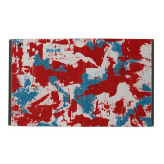 Red, White and Blue Brushstrokes iPad Cover