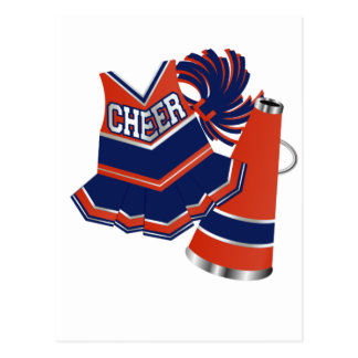 Red White and Blue Cheer Post Card