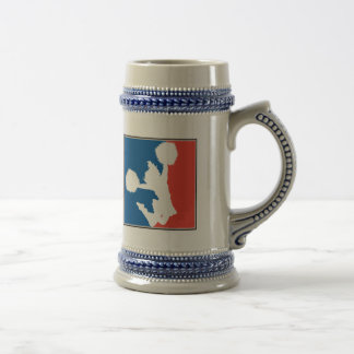 Red White and Blue Cheerleader Beer Stein