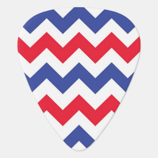 red white and blue Chevron pattern Plectrum